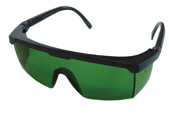 Green Safety Goggles