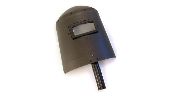Escudo de fibra com visor fixo