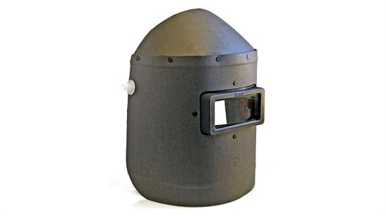 Máscara de fibra com visor fixo