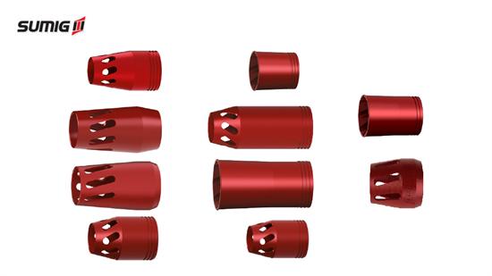 Bocais para Tochas MIG/MAG Extração de Fumos